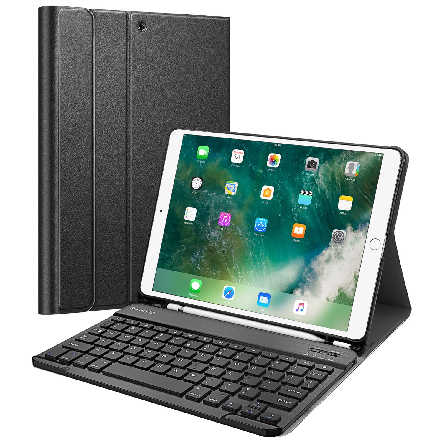 Funda con teclado para iPad Air 2019 3rd Gen/iPad Pro 10.5