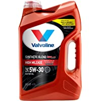 Valvoline High Mileage with MaxLife Technology SAE 5W-30 Synthetic Blend Motor Oil 5 QT