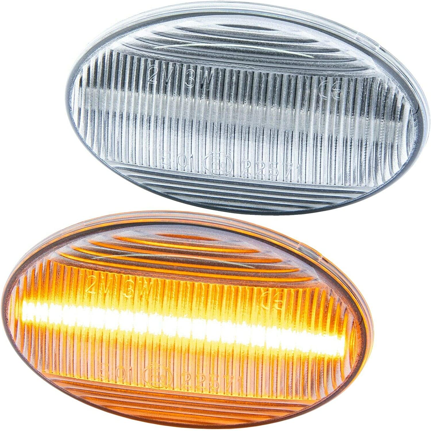 Type 450 452 rm-style 7233 Lot de 2 Clignotants LED compatibles avec Smart Fortwo mod/èles 1998-2007