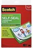 Scotch Single-Sided Laminating Sheets, 9 x 12-Inches, Letter Size (LS854SS-10)