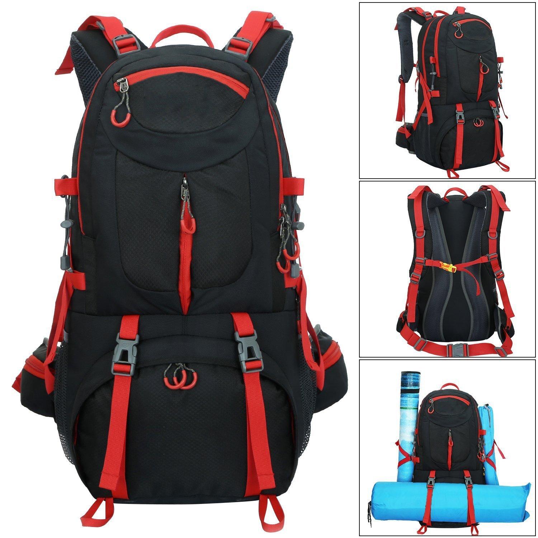 64ce33e6e61a Amazon.com: ZZW Outdoor Waterproof Hiking Backpack, 50L Wear ...