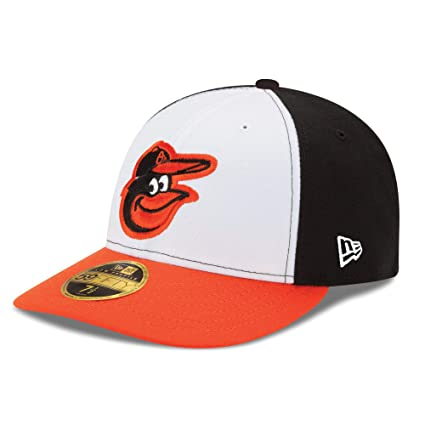 38b8f8cc Image Unavailable. Image not available for. Color: Baltimore Orioles Low  Profile Tri Color Fitted Size 6 7/8 Hat Cap - Team