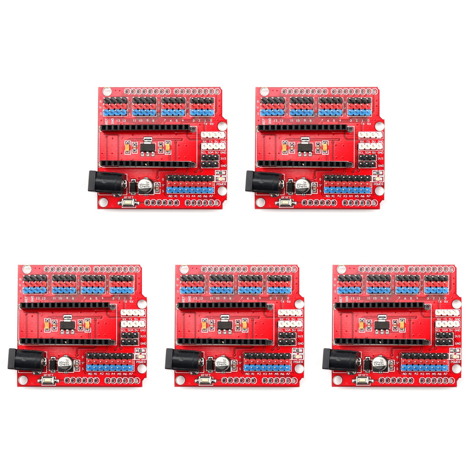 Areyourshop 5x Prototype Shield I/O Expansion Module Extension Board for Arduino Nano V3.0