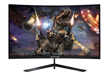 """Sceptre 27"""" Curved 144 Hz Gaming Led Monitor Edge Less Amd Free Sync Display Port Hdmi, Metal Black 2019 (C275 B 144 Rn) by Sceptre"""