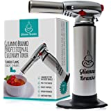 Culinary Torch - Best Creme Brulee Torch - Kitchen Blow torch with SAFETY LOCK & Adjustable Flame – Elegant Chef & Home Cooking Torch. NO FUEL INCLUDED.