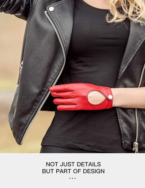 Touchscreen YISEVEN Damen Lederhandschuhe zum Autofahren