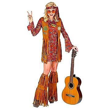 WIDMANN 02861 Disfraz hippie, mujer, multicolor, S: Amazon.es ...