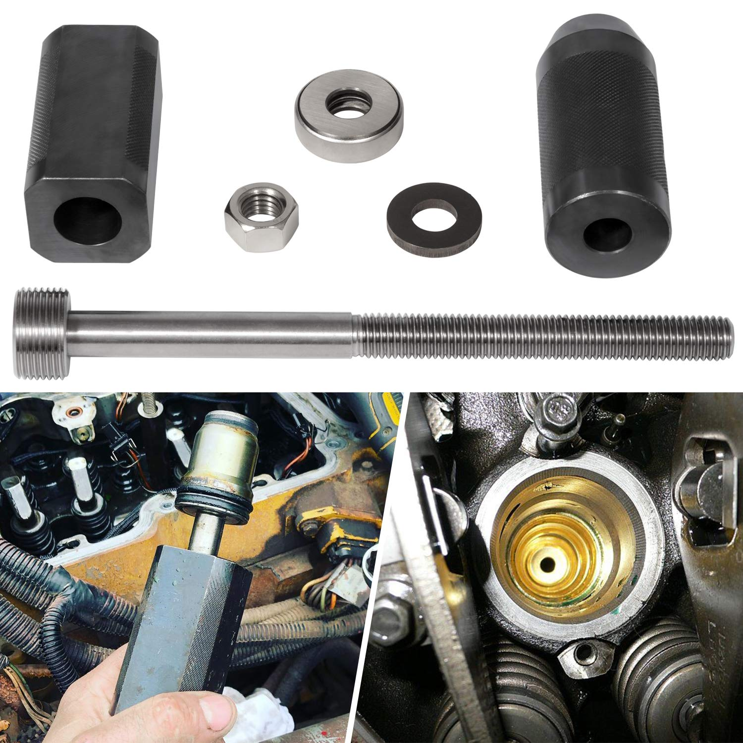 9U-6891 Injector Sleeve Remover Installer Set-Tools Kit For Caterpillar 3406E C10 C12 C15 C16 C18 Engines