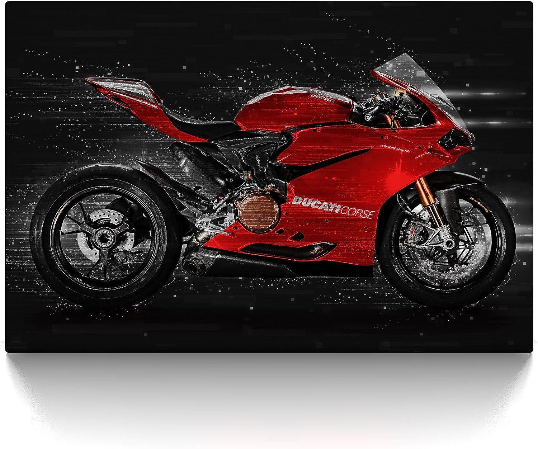 axqisqx Ducati Panigale 1199S Sportbike 5 St/ück Leinwand Wandkunst Home Decor 150x80cm-Rahmen