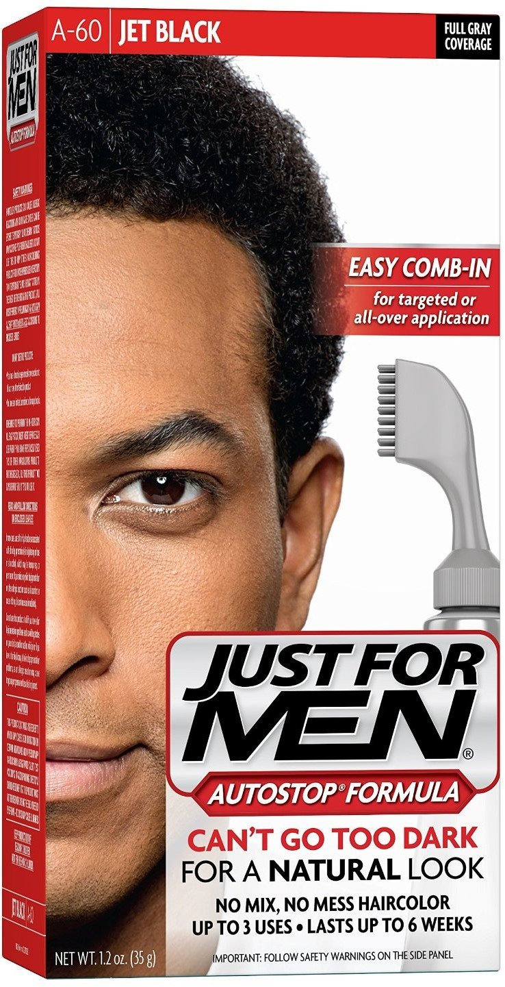 JUST FOR MEN AutoStop Foolproof Haircolor, Jet Black A-60 1 ea (Pack of 5) by Just for Men