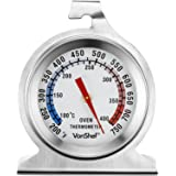 VonShef Precision Oven Thermometer Stainless Steel - Hang or Stand in Oven Temperature Gauge