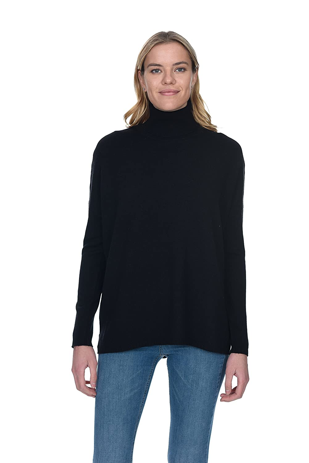ee193f83afd State Cashmere Women's 100% Pure Cashmere Tunic Turtleneck Sweater at  Amazon Women's Clothing store: