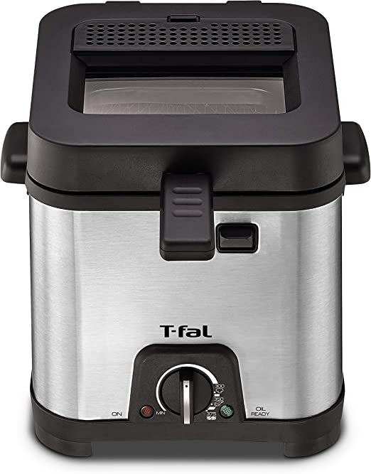 T-fal FF492D Freidora de acero inoxidable de 1,2 litros de ...