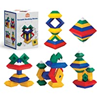 STEAM STUDIO Pyramid Building Blocks 15pcs, Building Blocks Stacking Toys Speed Cube, The Octahedron Stacker Toy 3D…