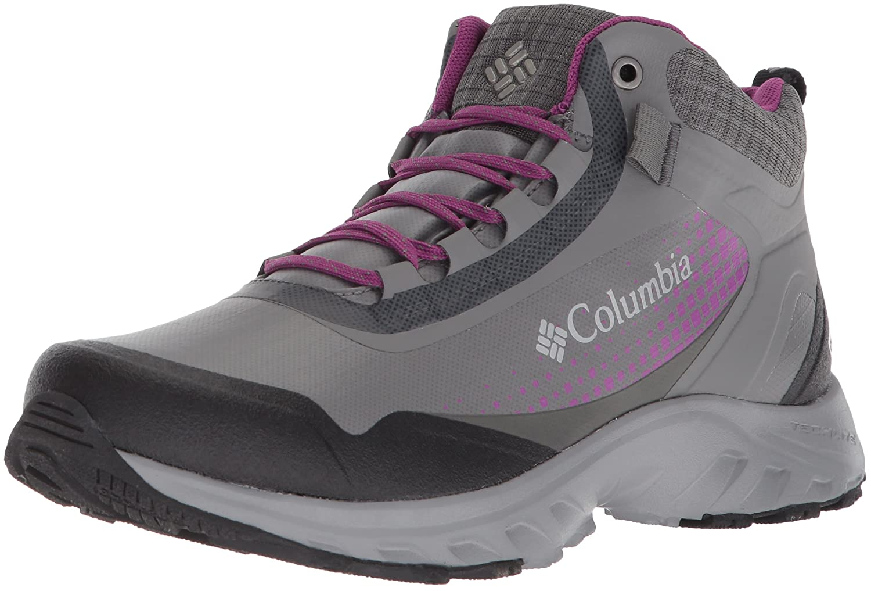 Columbia Women's Irrigon Trail Mid Outdry Xtrm Hiking Boot B073RNWGS8 9 B(M) US|Titanium Mhw, Intense Violet