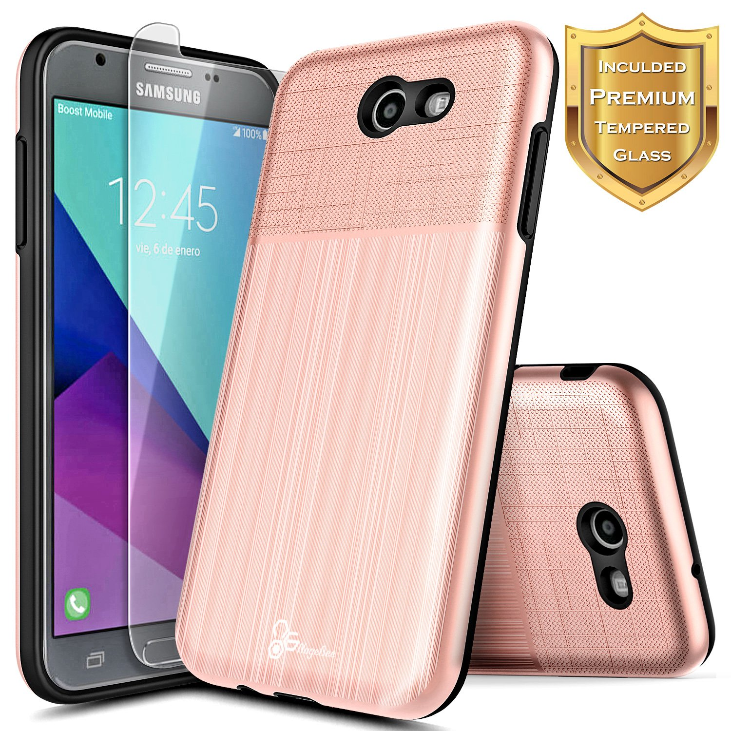 huge selection of fc1c5 e722a Amazon.com: Galaxy J7 Prime Case (Only For Metro PCS, T-Mobile) with ...