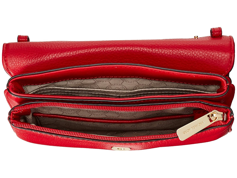 9ebb6f5d28f434 Michael Kors Bedford Double Gusset Crossbody CHILI/GOLD: Handbags:  Amazon.com