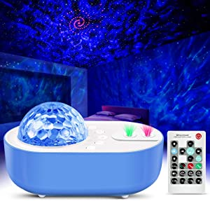 Star Projector Night Light Sky Galaxy Projector Ocean Wave Starry Night Light Projector with Bluetooth Music Speaker & Remote Control for Bedroom, Home Theatre, Game Rooms, Night Light Ambiance