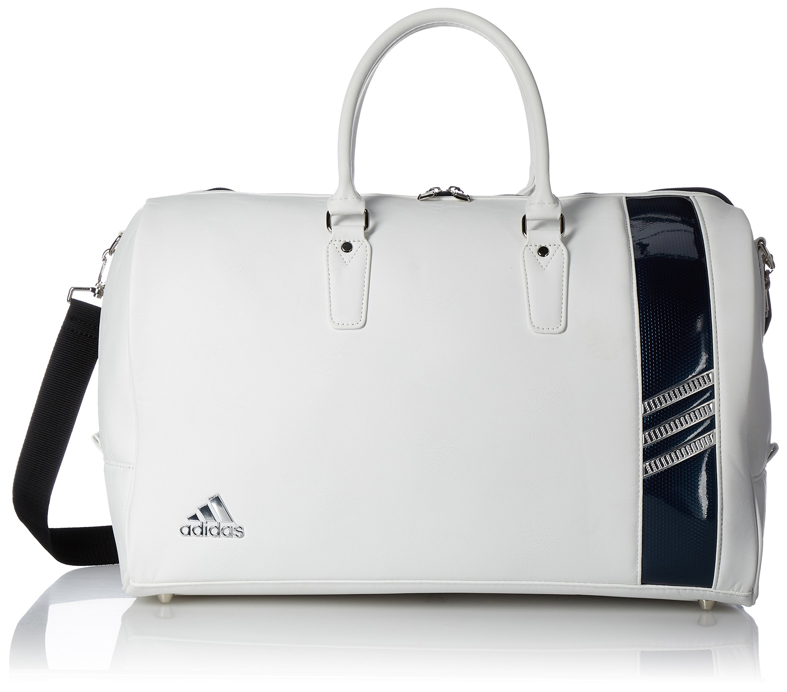 [Adidas Golf] Boston bag L50 × W24 × H 31 cm / with shoes in pocket / AWT 82 A92343 white / navy