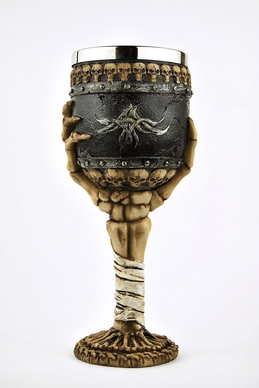 AG Totenkopf Kelch Skeletthand 666