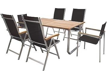 Amazonde Outflexx Sitzgruppe Für 6 Personen Schwarz