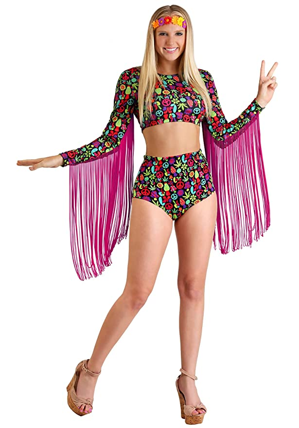 70s Costumes: Disco Costumes, Hippie Outfits Free Spirit Hippie Womens Costume $29.99 AT vintagedancer.com