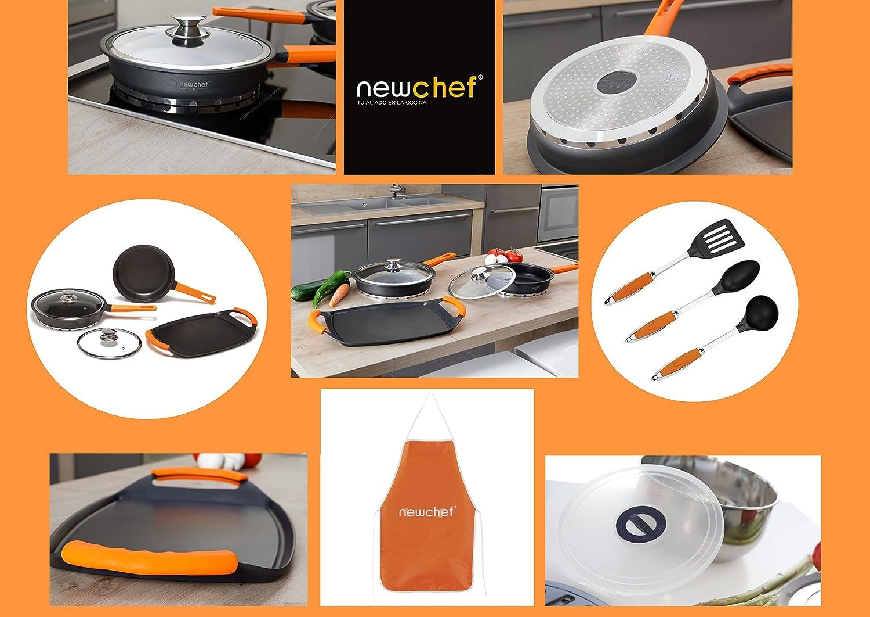 Top SHOP New Chef batería de cocina Set Accesorios de cocina de aluminio fundido 26 piezas: Amazon.es: Hogar