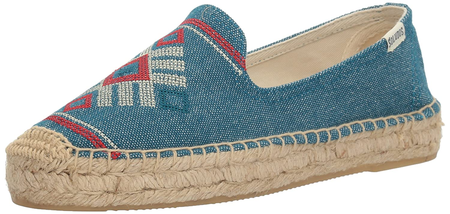 Soludos Women's Yucatan Smoking Slipper Flat B01N8SZ4IH 9.5 B(M) US|Ocean Blue