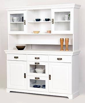 Buffet, Sideboard, Kommode Aus Kiefernholz Weiß Lackiert, Schrank,  Anrichte: Amazon.de: Küche U0026 Haushalt Nice Design