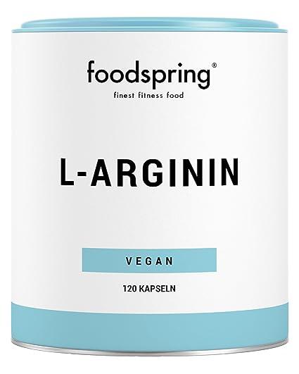 foodspring L-arginina, 120 cápsulas, Para un mejor suministro de nutrientes