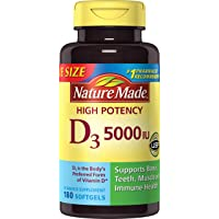 Nature Made 180 Softgels Vitamin D3 5000 IU