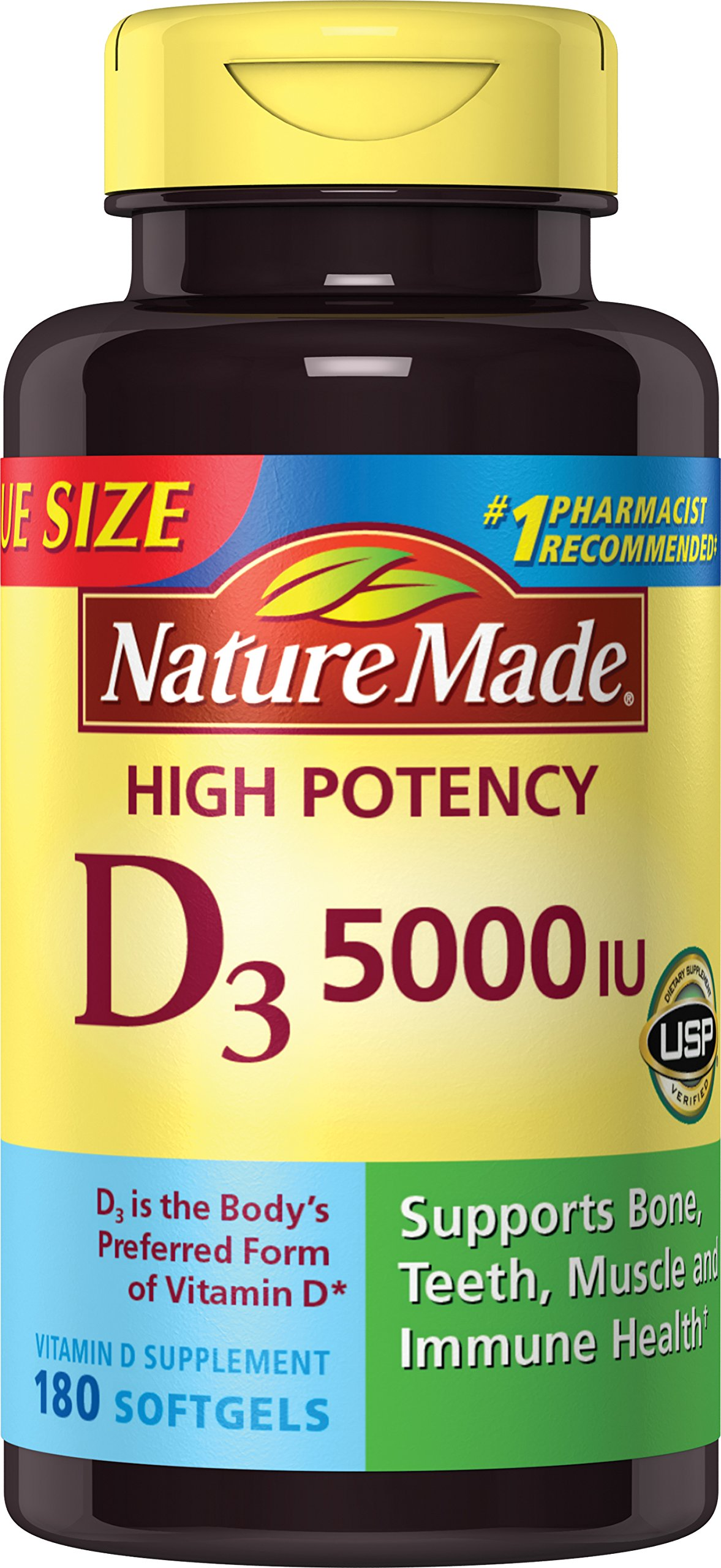 Amazon.com: Nature Made 1200mg of Fish Oil, 2400 per serving, 360mg of Omega-3, 300 Softgels ...