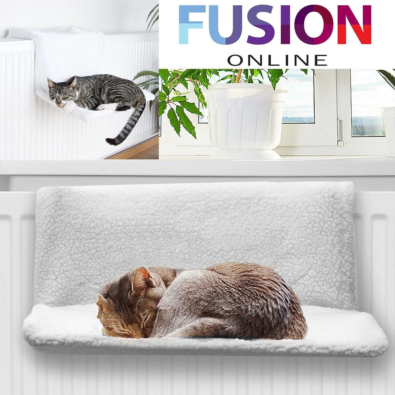 Cesta de cachorro de gato perro de mascota gato Radiador cama hamaca forro polar cálido cuna animales: Amazon.es: Productos para mascotas
