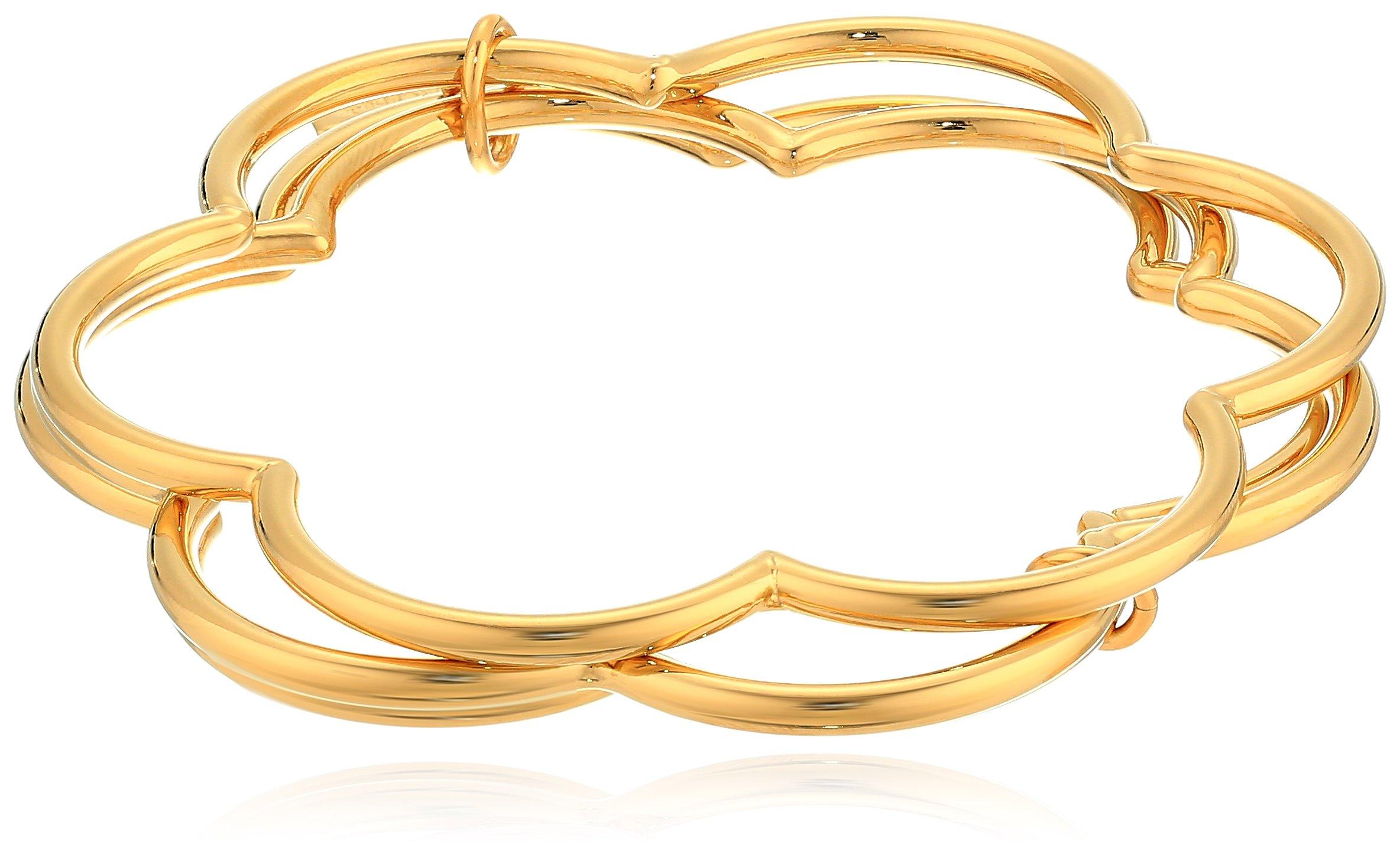 Kate Spade New York Womens Stackable Bangle Bracelet Set, Gold