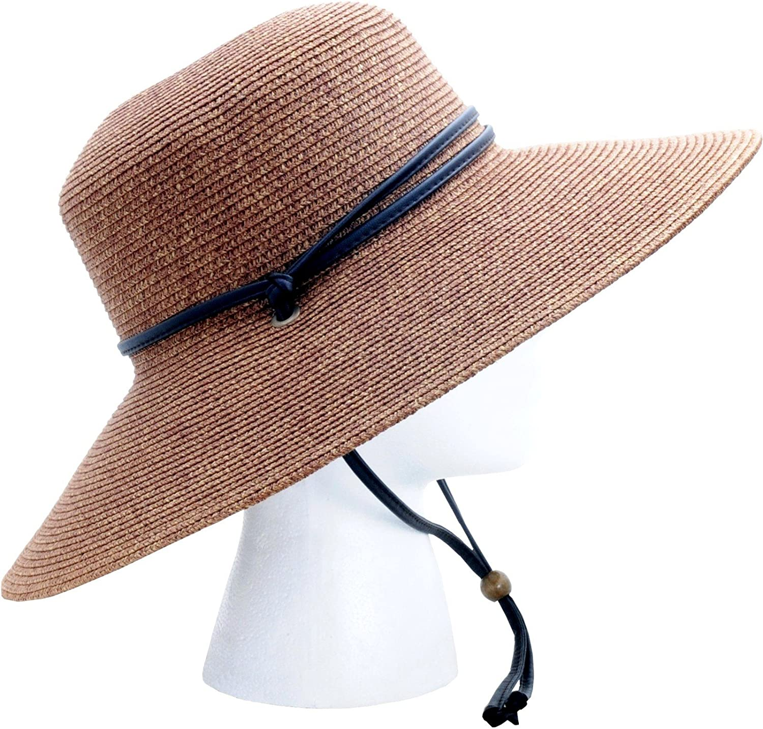 Wide Brim Braided Sun Hat