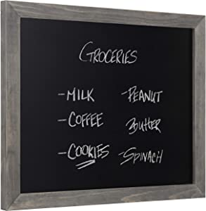 MyGift Rustic Gray Wood Framed Wall-Mounted Chalkboard Sign, 13 x 16-Inch