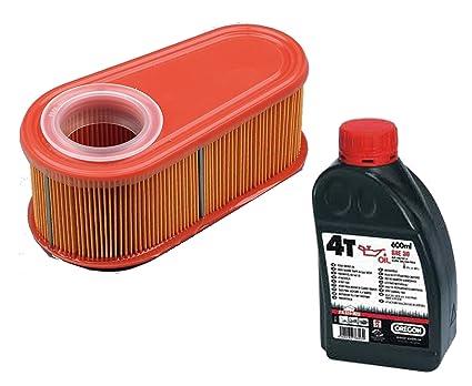 gardexx filtro de aire + aceite para cortacésped, Briggs & Stratton, serie 850 &