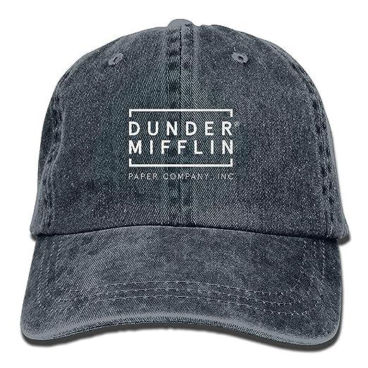 NVJUI JUFOPL Dunder Mifflin Paper Lnc Unisex Adult Adjustable Trucker Dad  Hats Navy 9427300972e
