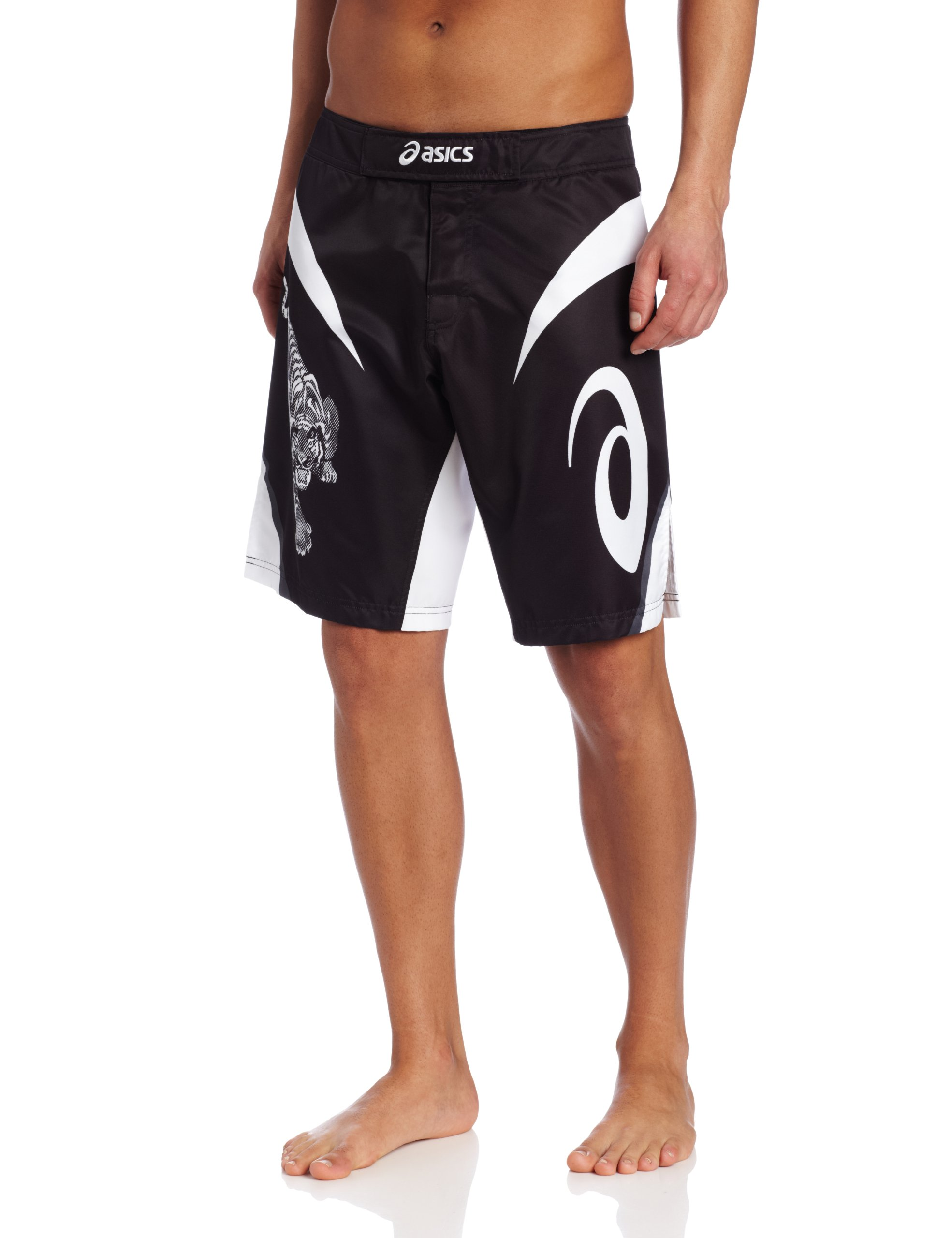 Asics Men's Bull Short, Black/White, 30 by ASICS