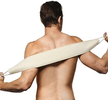 Deneve Exfoliating Loofah Back Scrubber Brush, Long Shower U0026 Bathtub Body  Sponge Scratcher With Natural