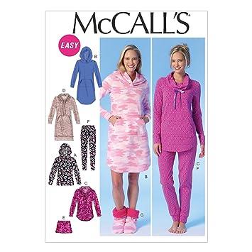 McCalls Patrones de Costura para MC7061ZZ e Instrucciones para Hacer Vestidos para Blusas de Mujer Pantalones