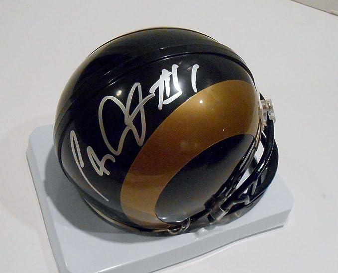 Amazon.com  Tavon Austin Signed Mini Helmet - COA - Autographed NFL Mini  Helmets  Sports Collectibles 77a2b4733