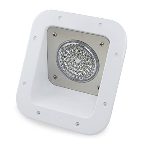 Leisure LED RV Exterior Flood Porch Utility Light - White 12v 1100 Lumen  Lighting Fixture Replacement Lighting for Weekend Warrior RVs, Trailers,