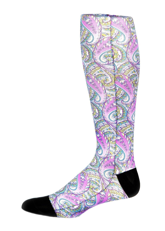 Purple Paisley 8-15 mmHg Graduated Compression Sock