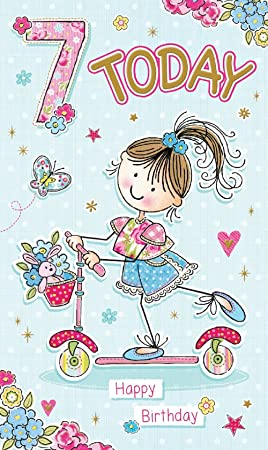 For A Super Special Daughter Age 7 7th Birthday Card Amazoncouk