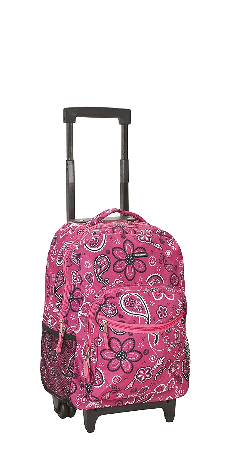 ROCKLAND 17 Inch Rolling Backpack, Owl, One Size R01