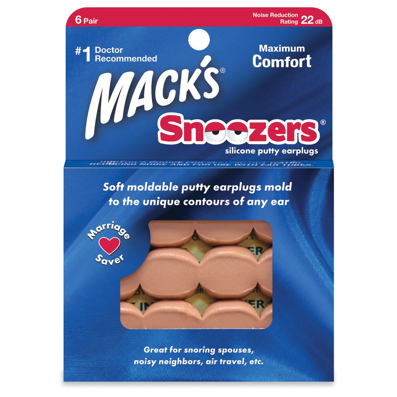 Macks Snoozers Silicone Putty Earplugs, 6-Pair (Pack of 2)