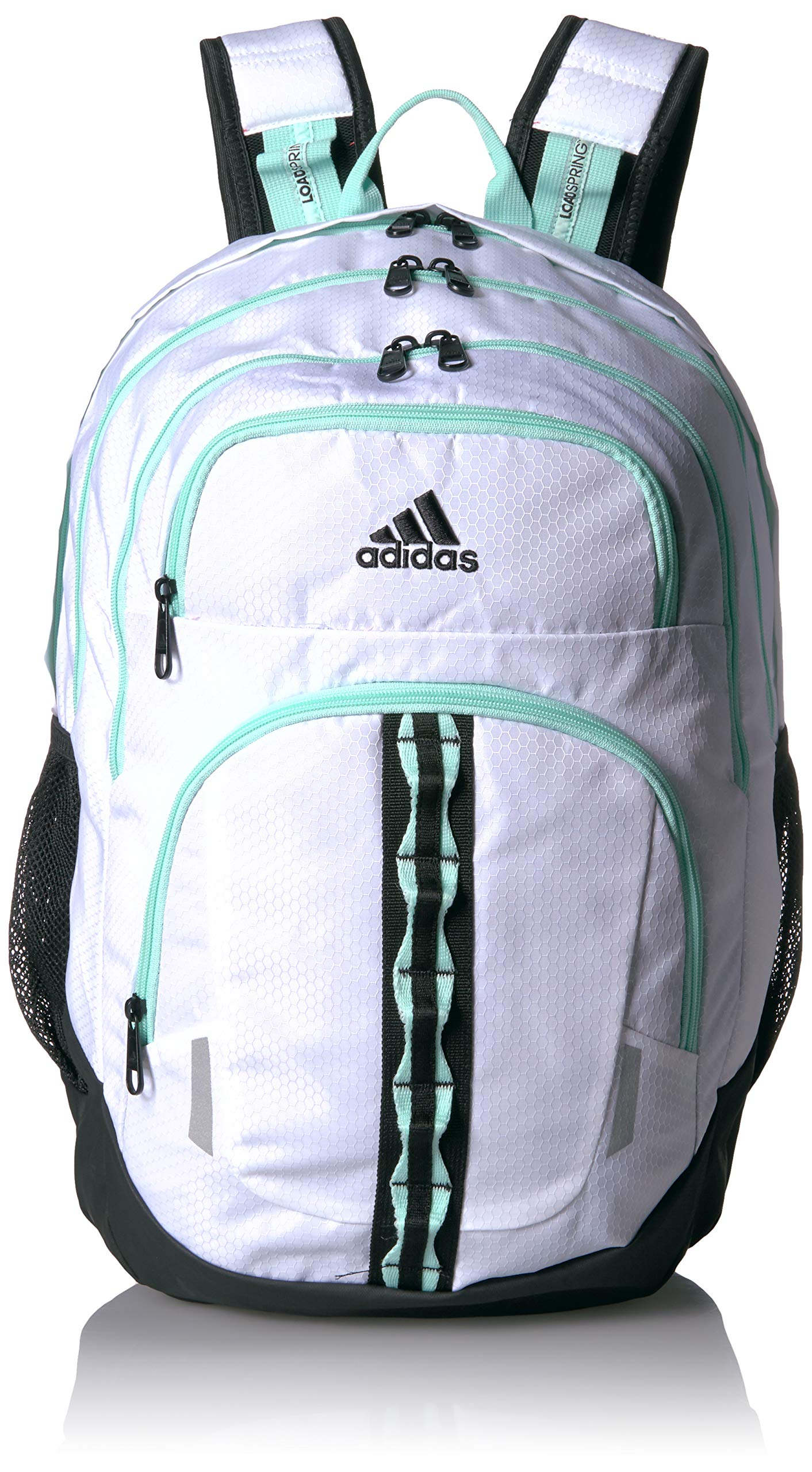 adidas Prime Backpack, White/Clear Mint/Black, One Size