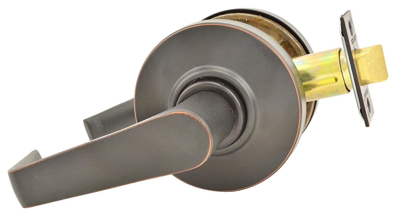 Saturn Lever Design Schlage commercial AL10SAT643 AL Series Grade 2 Cylindrical Lock Aged Bronze Finish Passage Function