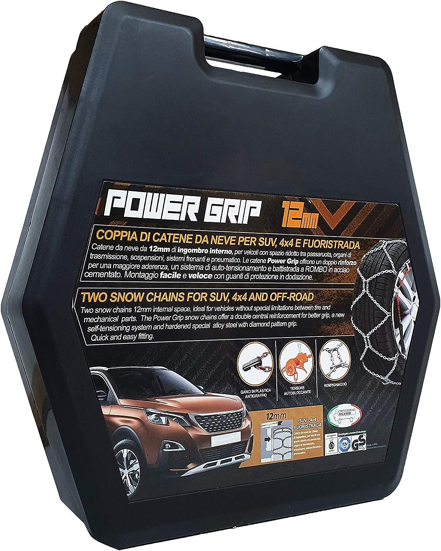 16F250 Catene da Neve Power Grip 16mm Omologate Gruppo 250 pneumatici 245//70R16
